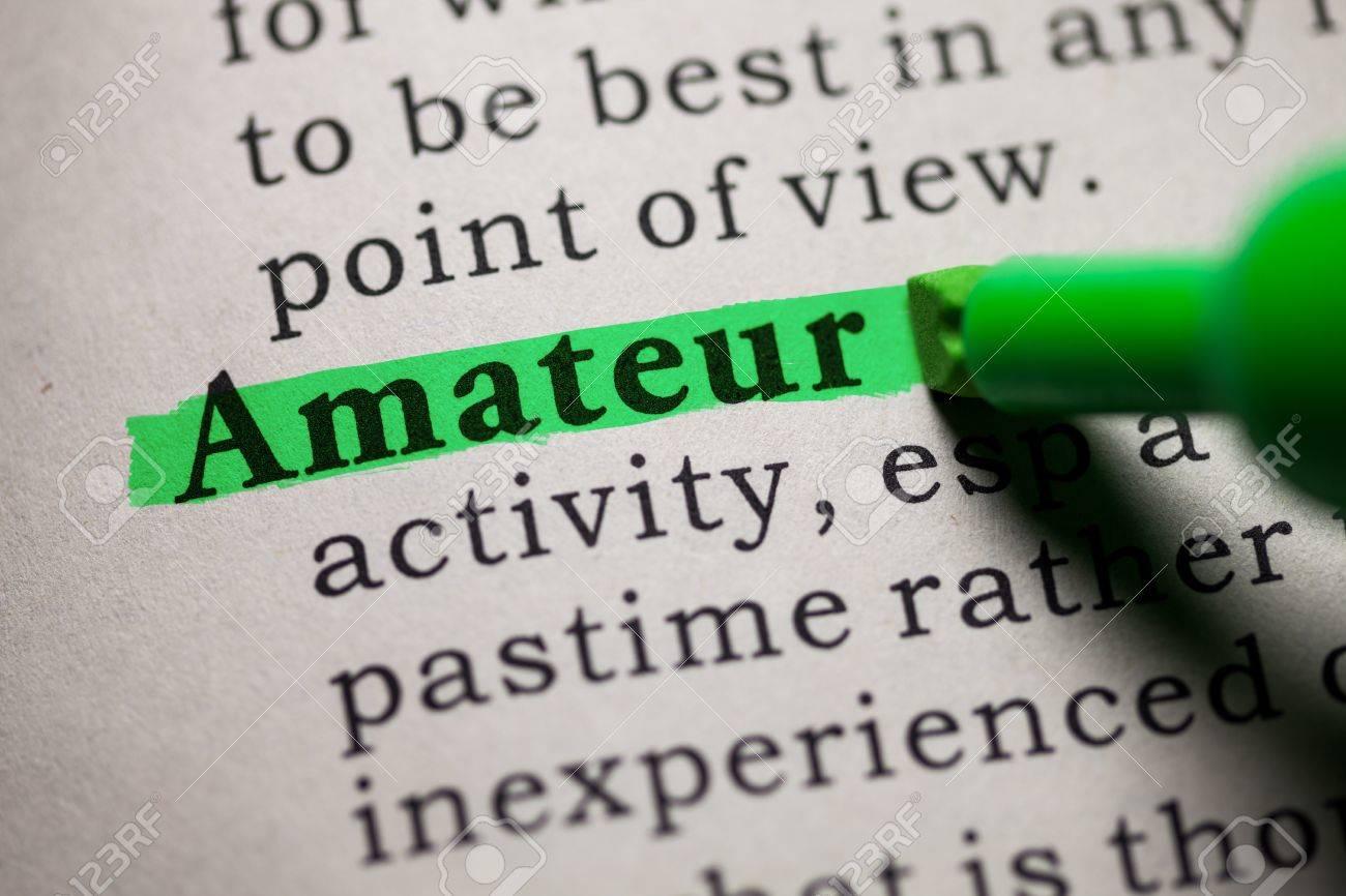 Definition of amateur