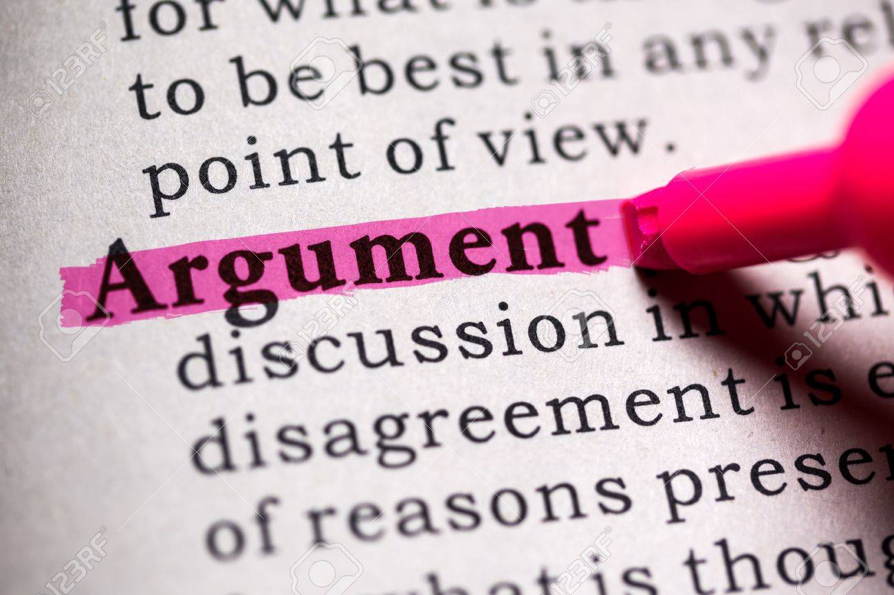 The argument is ... The meaning of the word argument