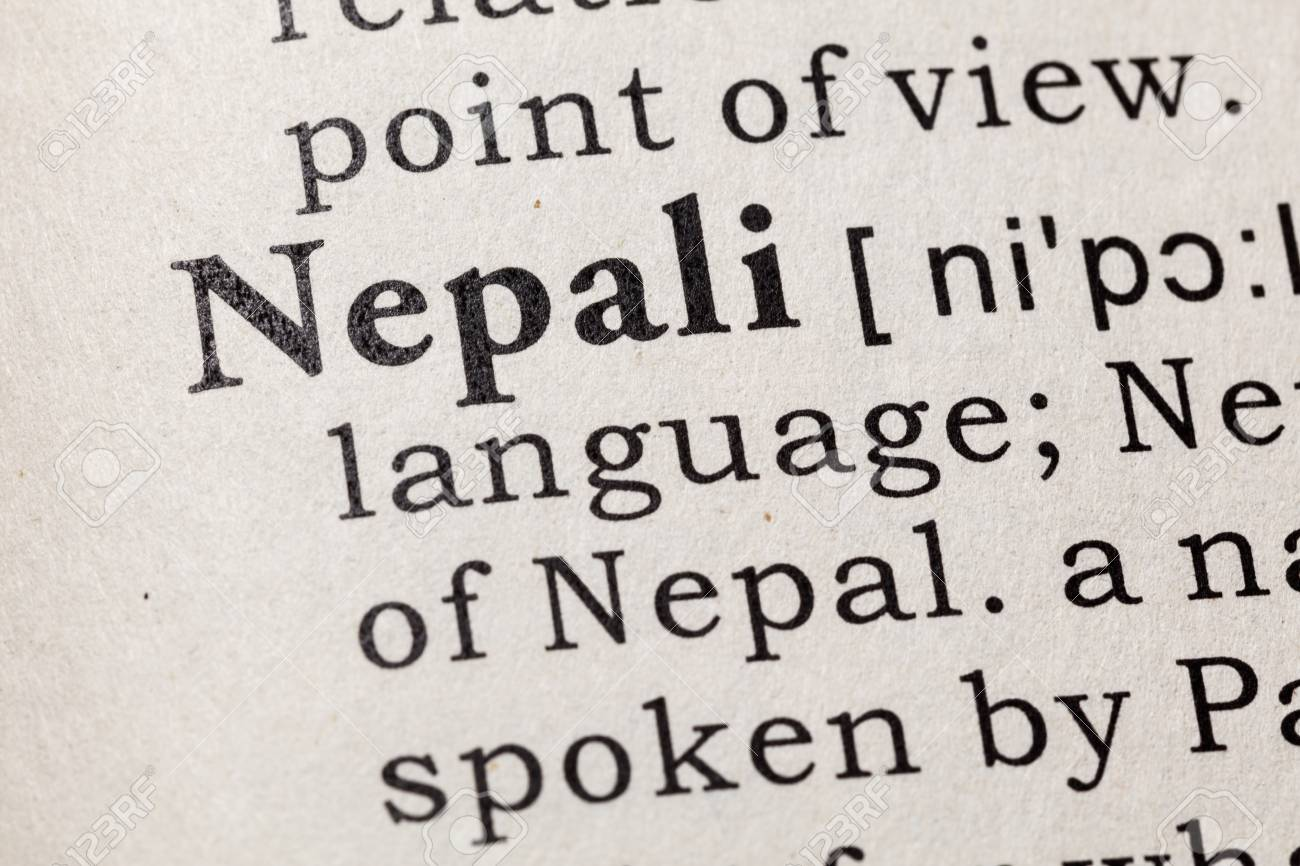 Fake Dictionary, Dictionary definition of the word Nepali  including