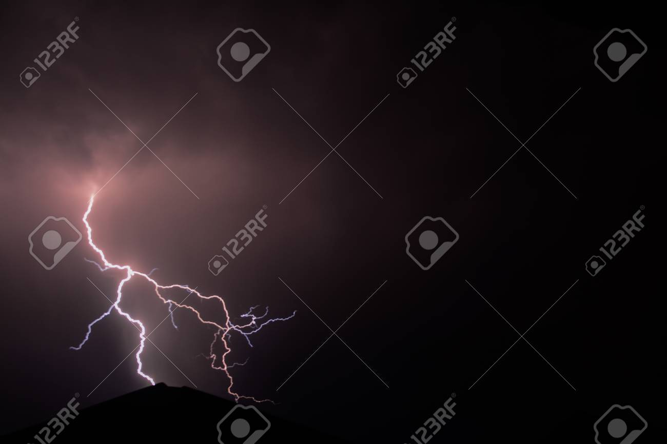 Lightning Strike Stock Photo - 35957863
