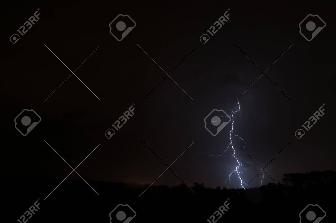 Lightning, Weather and Storms in night skies Stock Photo - 45306326