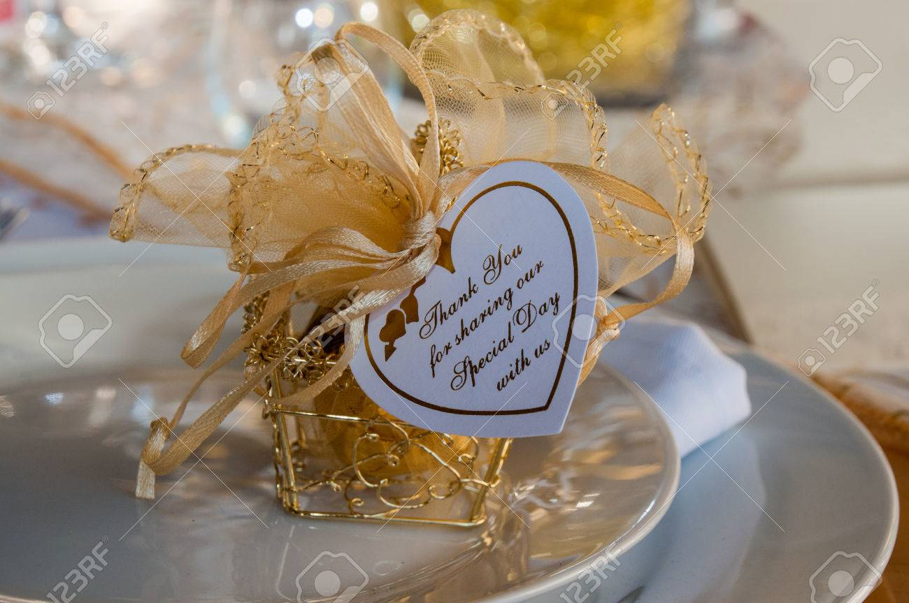 Token of appreciation and Thank You for wedding function Stock Photo - 46911935