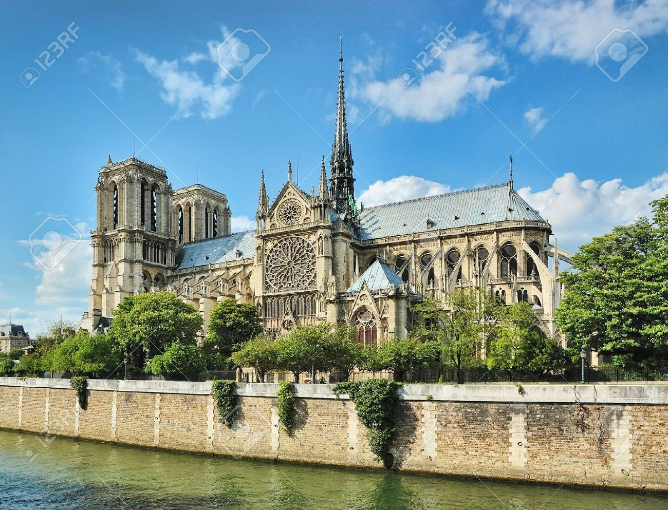 Image result for Notre Dame from the Seine images