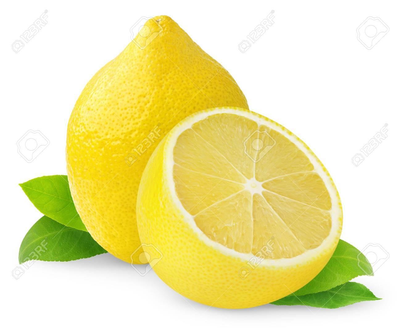 Lemons isolated on white Stock Photo - 8475270