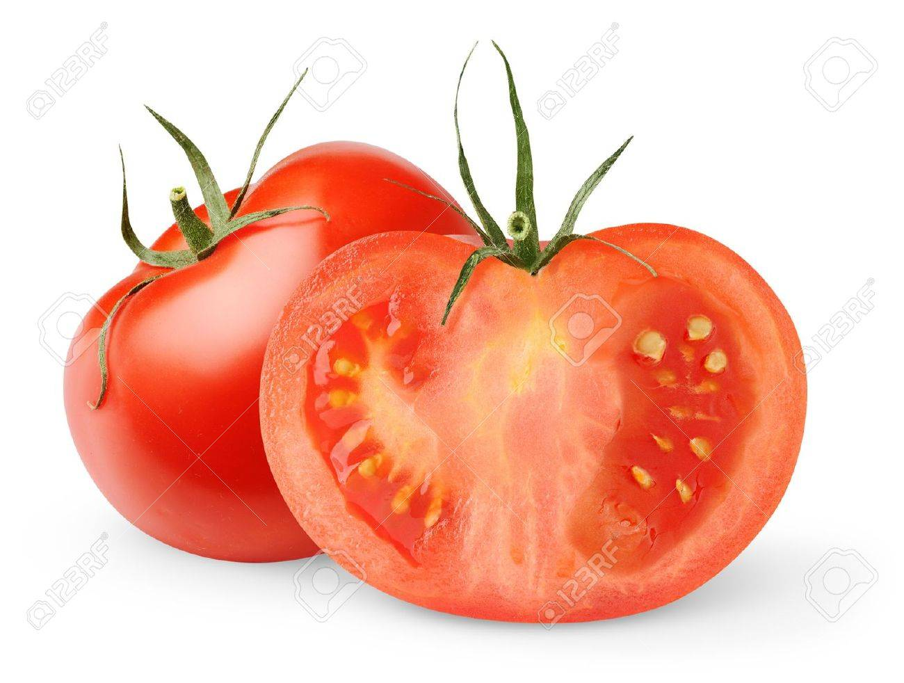 Fresh tomatoes isolated on white Stock Photo - 8475274