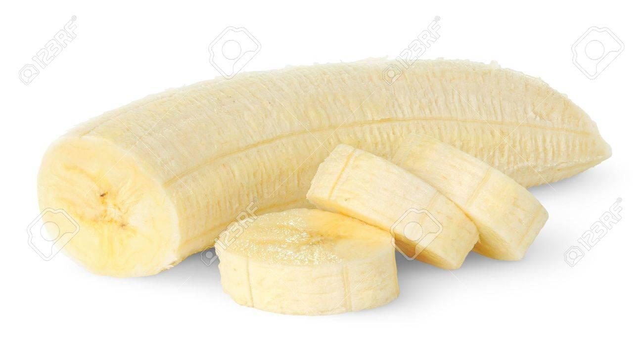 Sliced banana isolated on white Stock Photo - 8923464