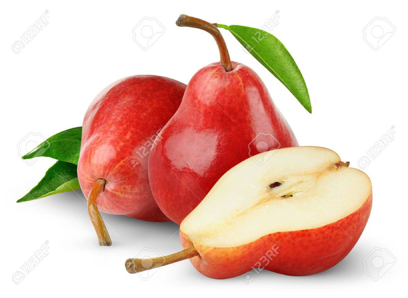 Red pears isolated on white Stock Photo - 9228347
