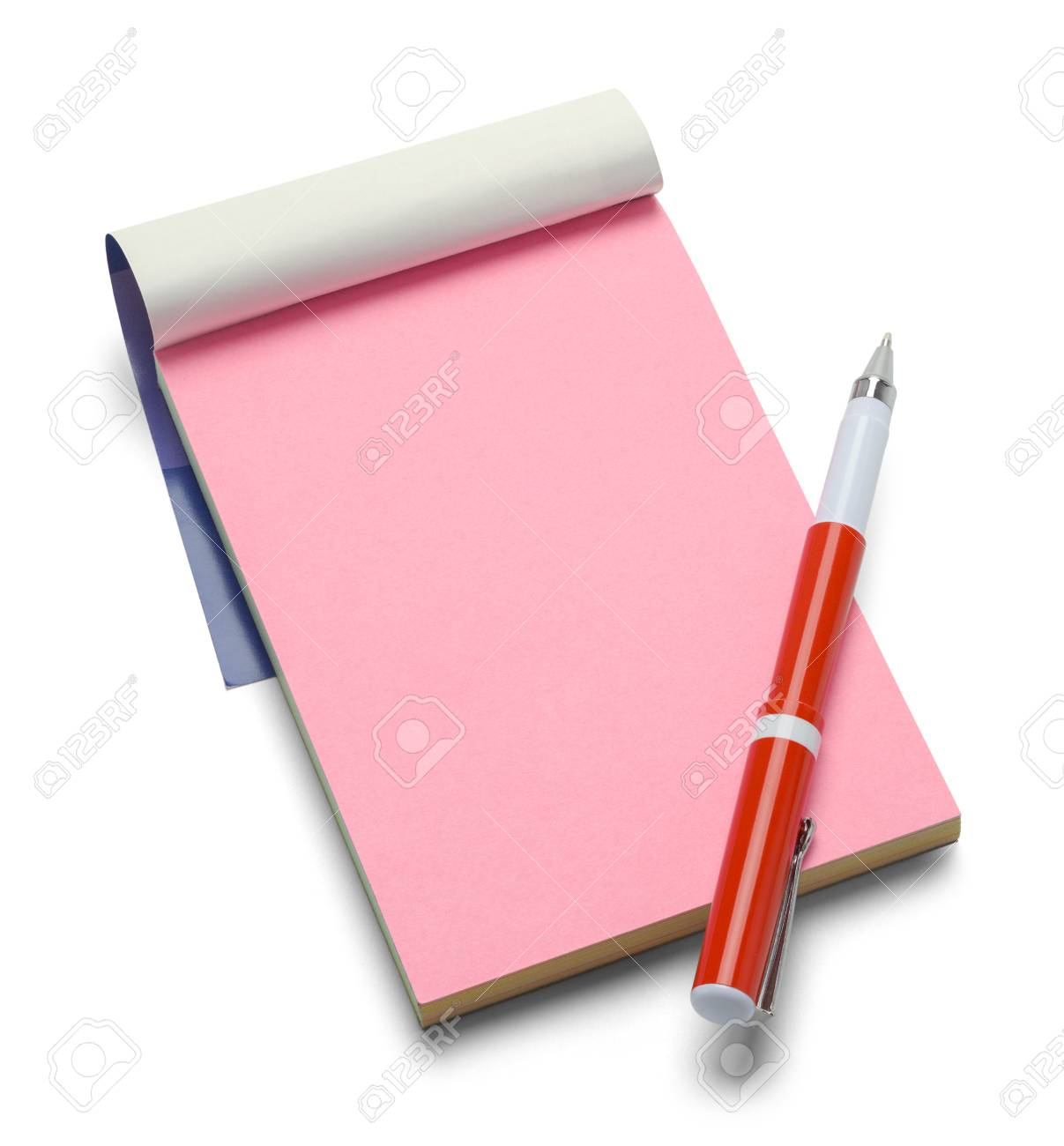 Notizblock mit Stift pink