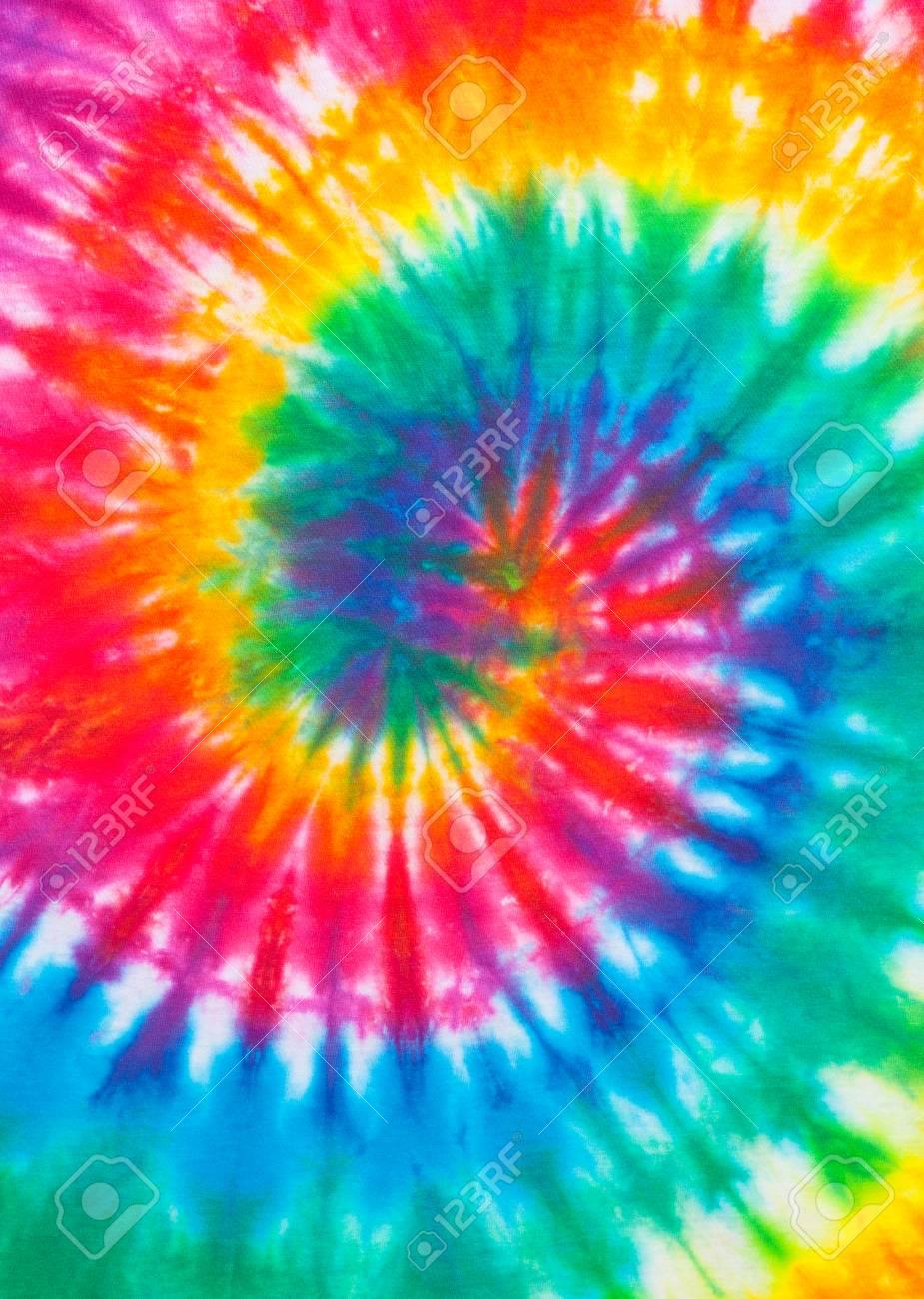 3bd230f6102f42 Stock Photo - Tie Dye Rainbow Spiral Pattern Close Up.