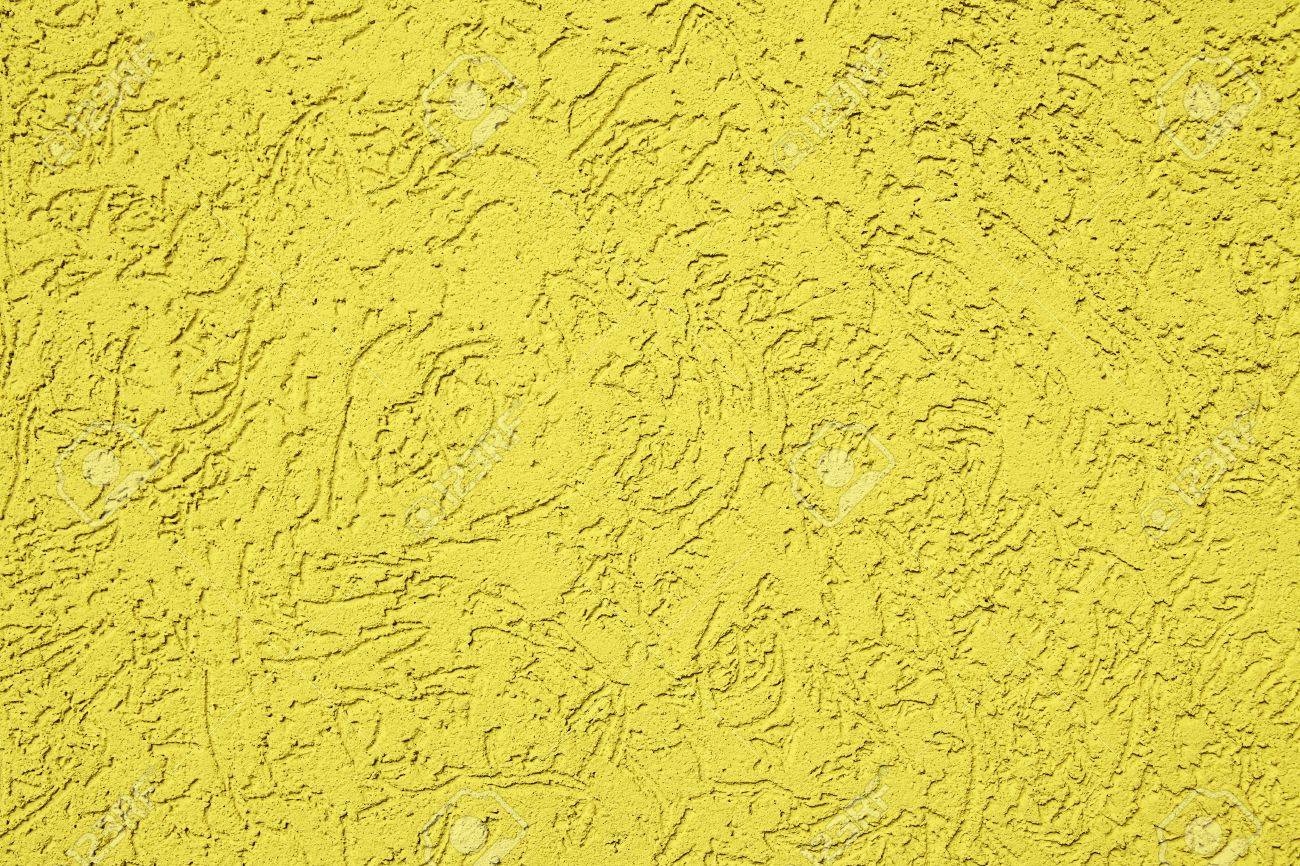 Modern Plaster Wall Texture In Yellow Color Stock Photo, Picture And ...