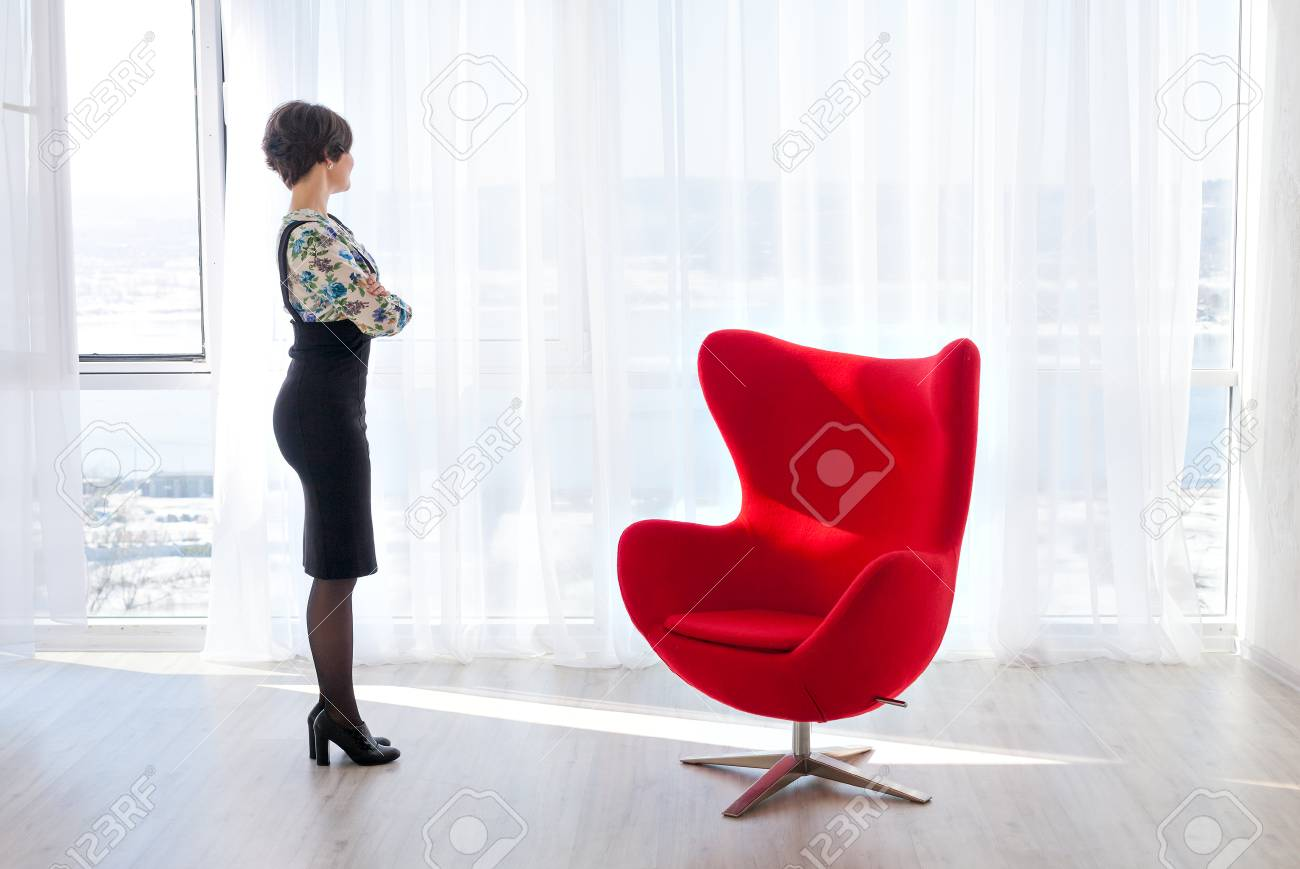 Portrait Of A Young Woman Psychologist Therapist In A Bright