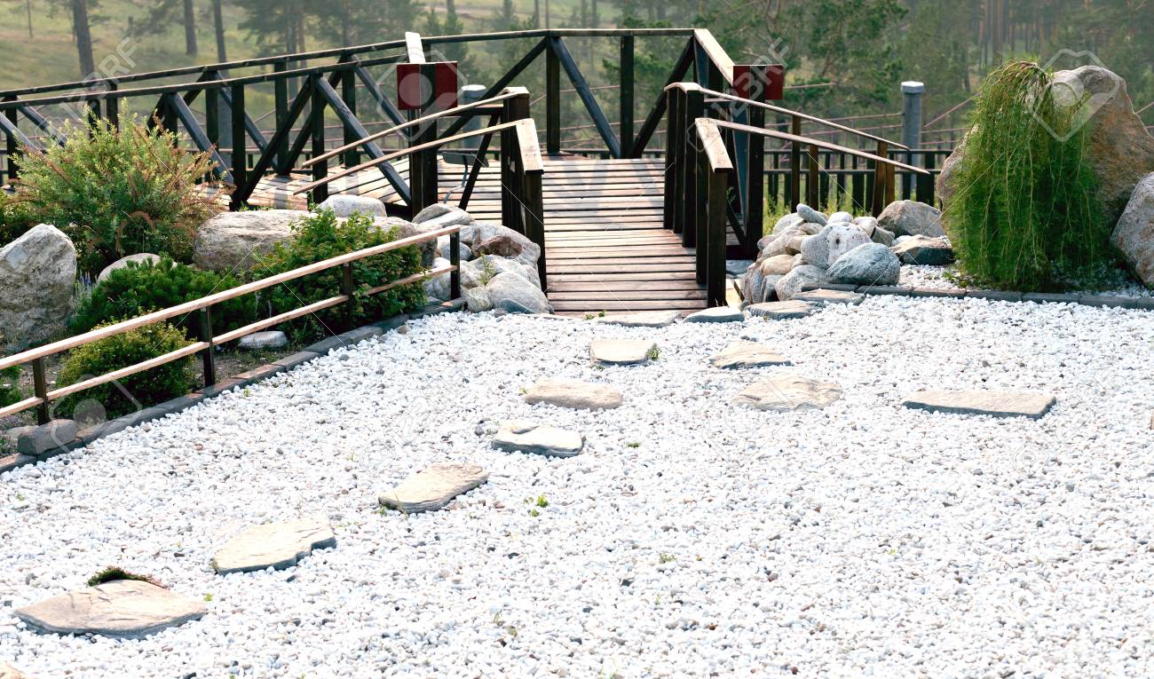 Rock Garden, And A Meditation On The Territory Of A Buddhist Temple. Datsan  Rinpoche