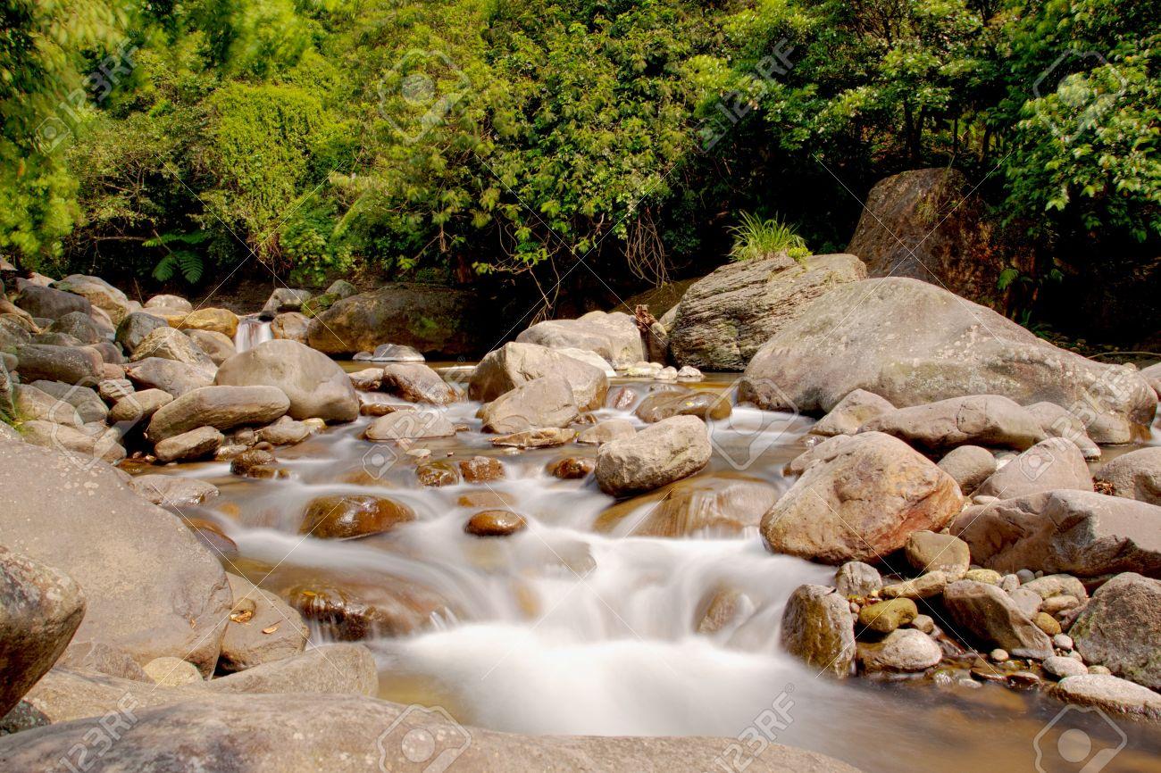 a cascade on rock falling into river Stock Photo - 9462899