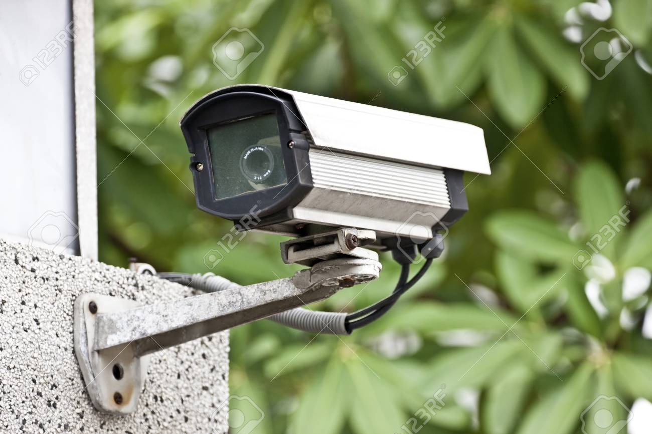 security camera on wall in public space Stock Photo - 13054985