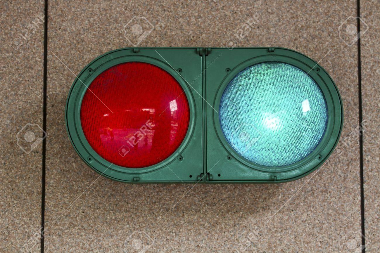 Traffic Light On Garage Wall