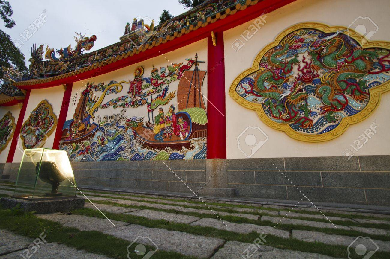 Taiwanese traditional wall sculpture in Bao An temple Stock Photo - 17244618