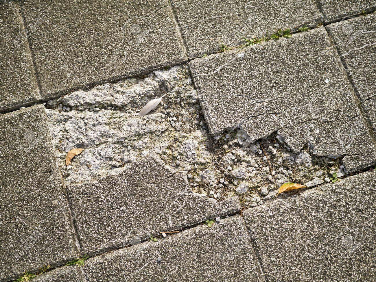 Old and broken asbestos floor tiles stock photo picture and old and broken asbestos floor tiles stock photo 17880856 dailygadgetfo Choice Image