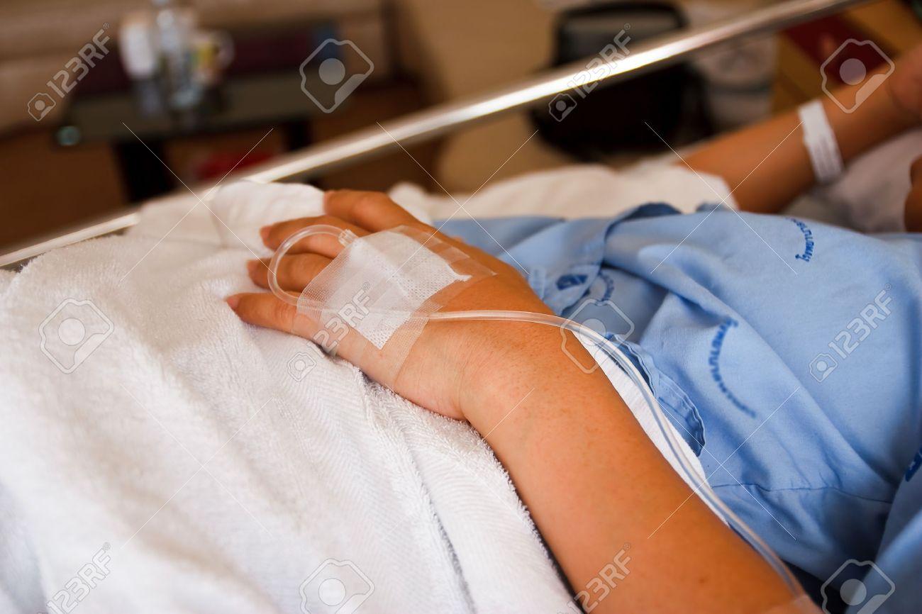 Tratamiento de solución salina Foto de archivo - 10449495