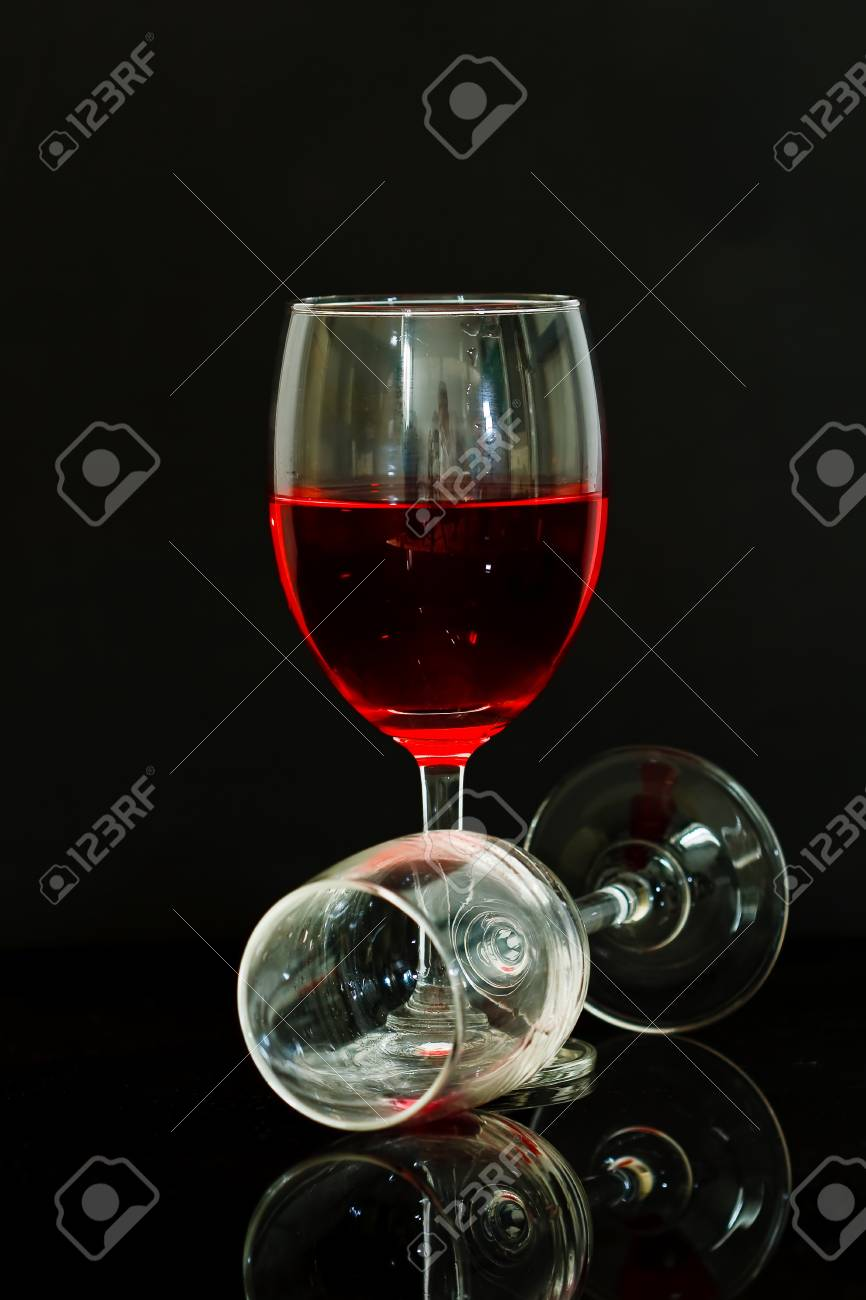 Glass with red wine Stock Photo - 12032762