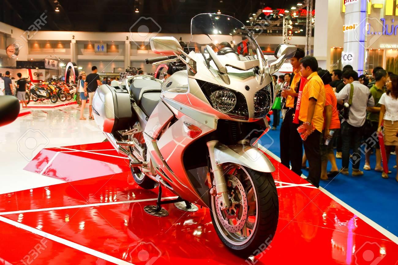 BANGKOK - MARCH 27: Yamaha on display at The 33th Bangkok International Motor Show on March 27, 2012 in Bangkok, Thailand. Stock Photo - 13226437