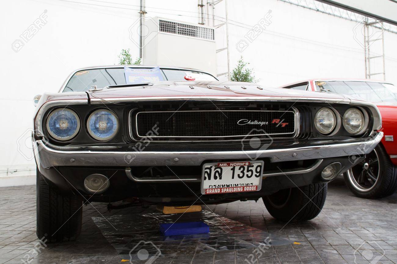 Bangkok June 24 Dodge Challenger R T 1970 Year Vintage Cars Stock Photo Picture And Royalty Free Image Image 14340795