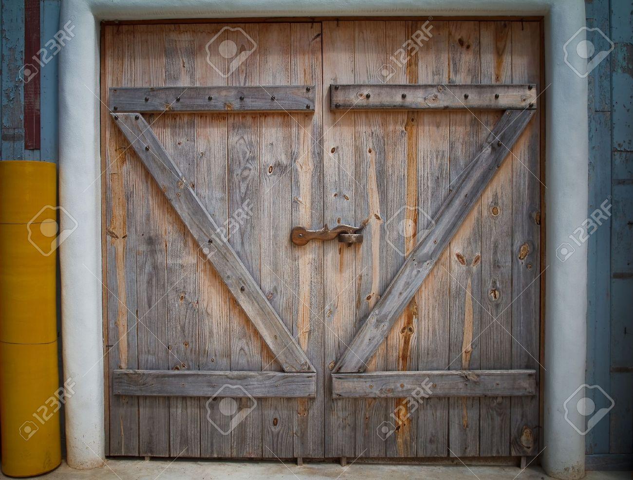 Wooden Farm Gate. Stock Photo   15842409