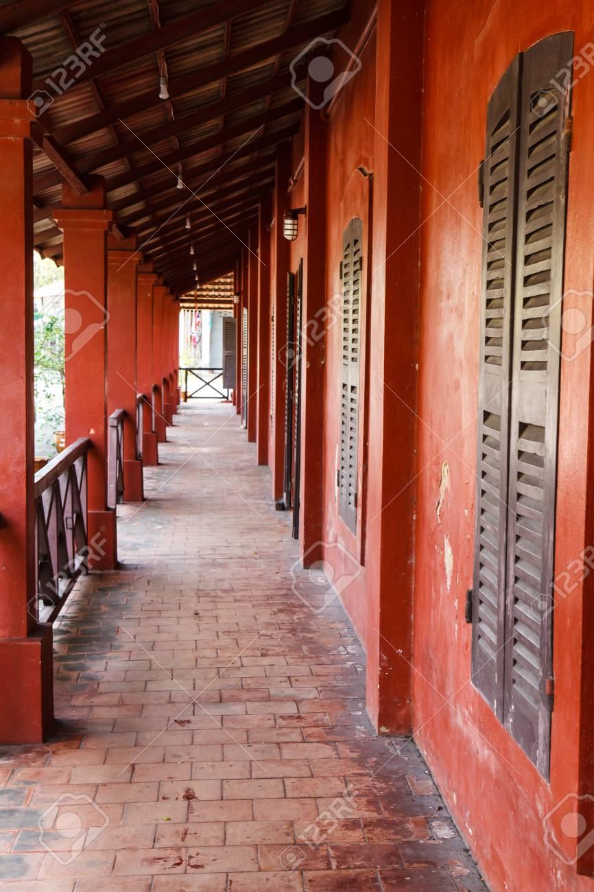 Building red Chanthaburi Thailand Stock Photo - 25486302