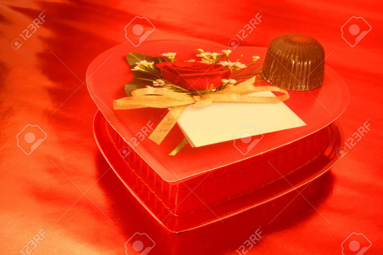 Valentine Chocolate (Can personalize top of box) Stock Photo - 302889
