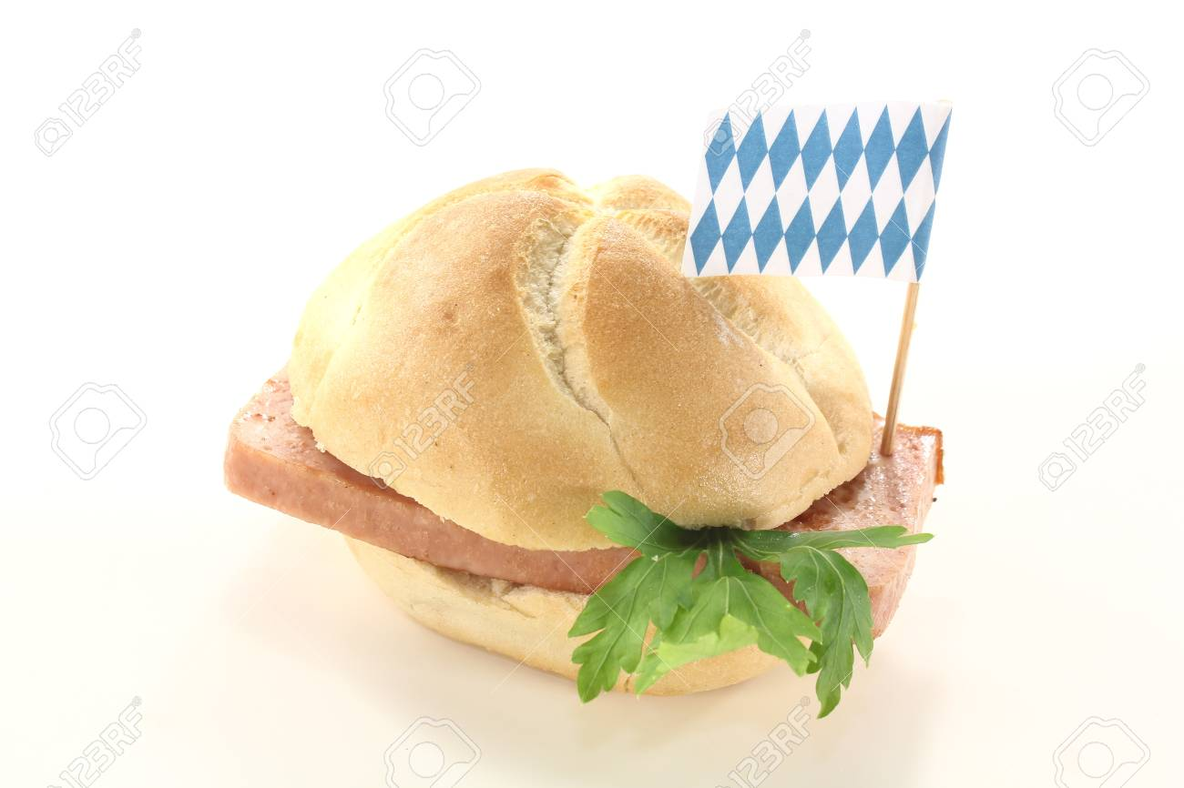 Bavarian beef and pork loaf with parsley on a light background Stock Photo - 14993511