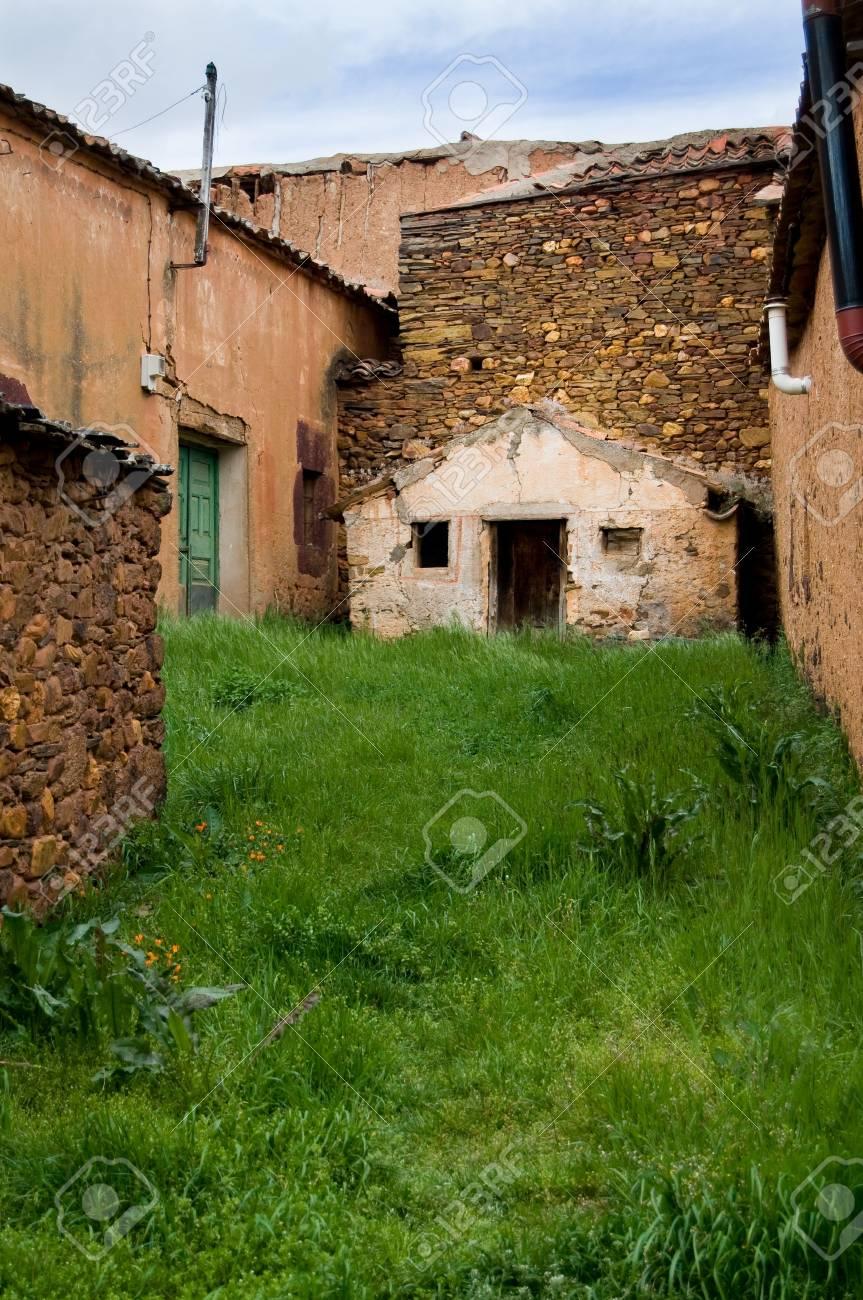 Clay town left in Segovia, Spain Stock Photo - 3011294