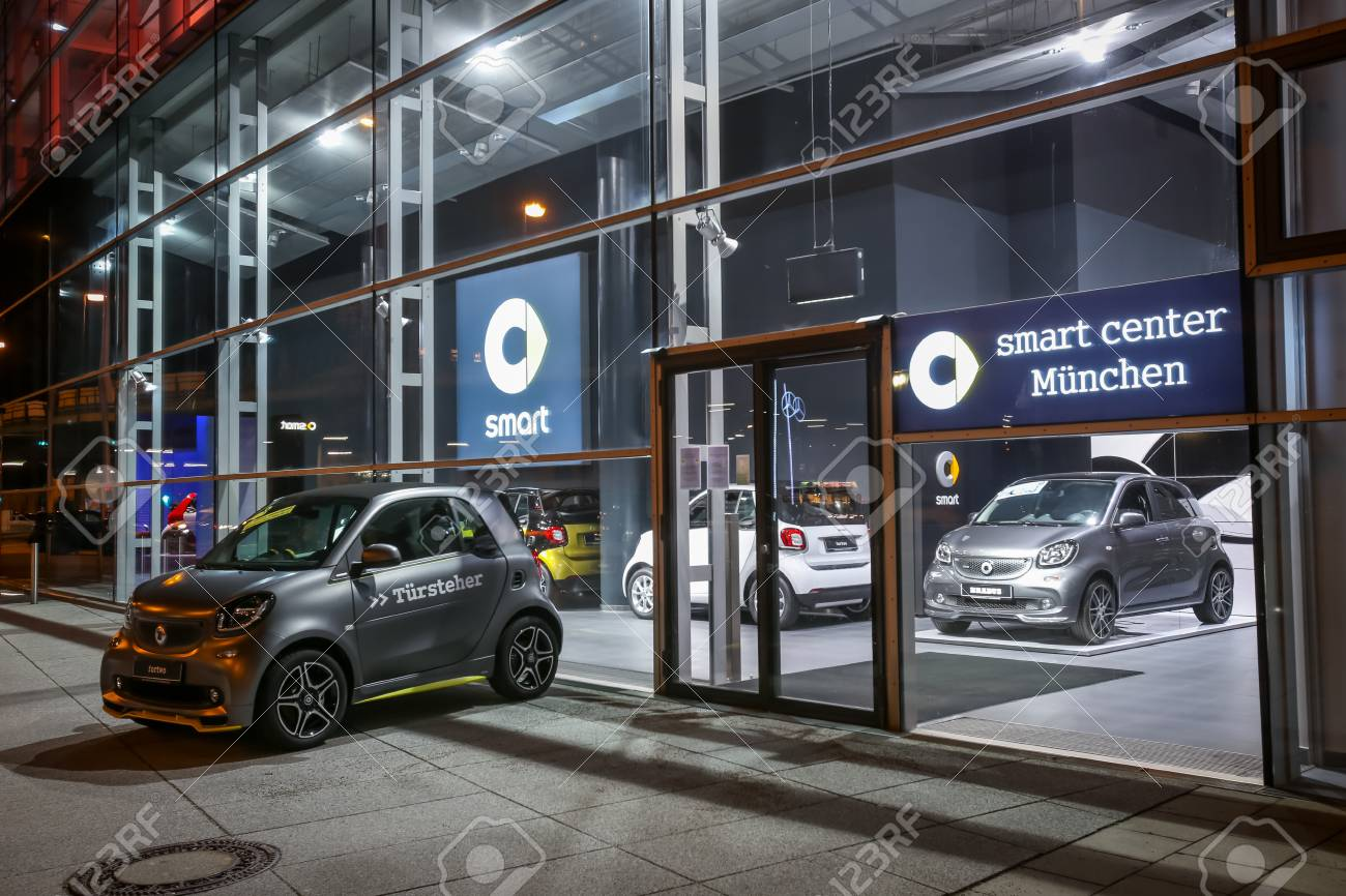 Mercedes Smart Car >> Munich Germany December 11 2017 A Smart Car Exhibited At