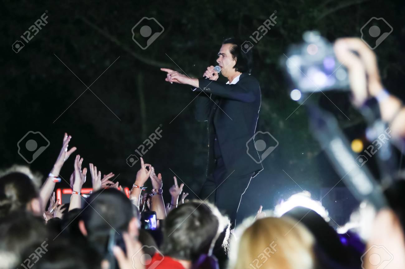 ZAGREB, CROATIA - 26th June, 2018 : Nick Cave & The Bad Seeds