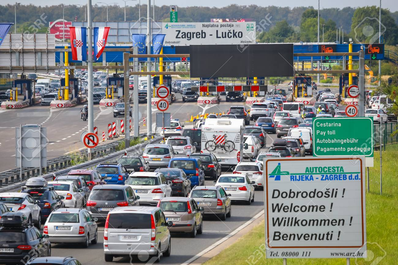 Zagreb Croatia August 11th 2018 Big Traffic Jam Due To Stock Photo Picture And Royalty Free Image Image 111374499
