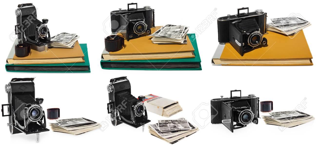 b9a30b5030 Modelo De Cámara Agfa Billy Record - Álbumes De Fotos Antiguos En Amarillo  Y Verde ...