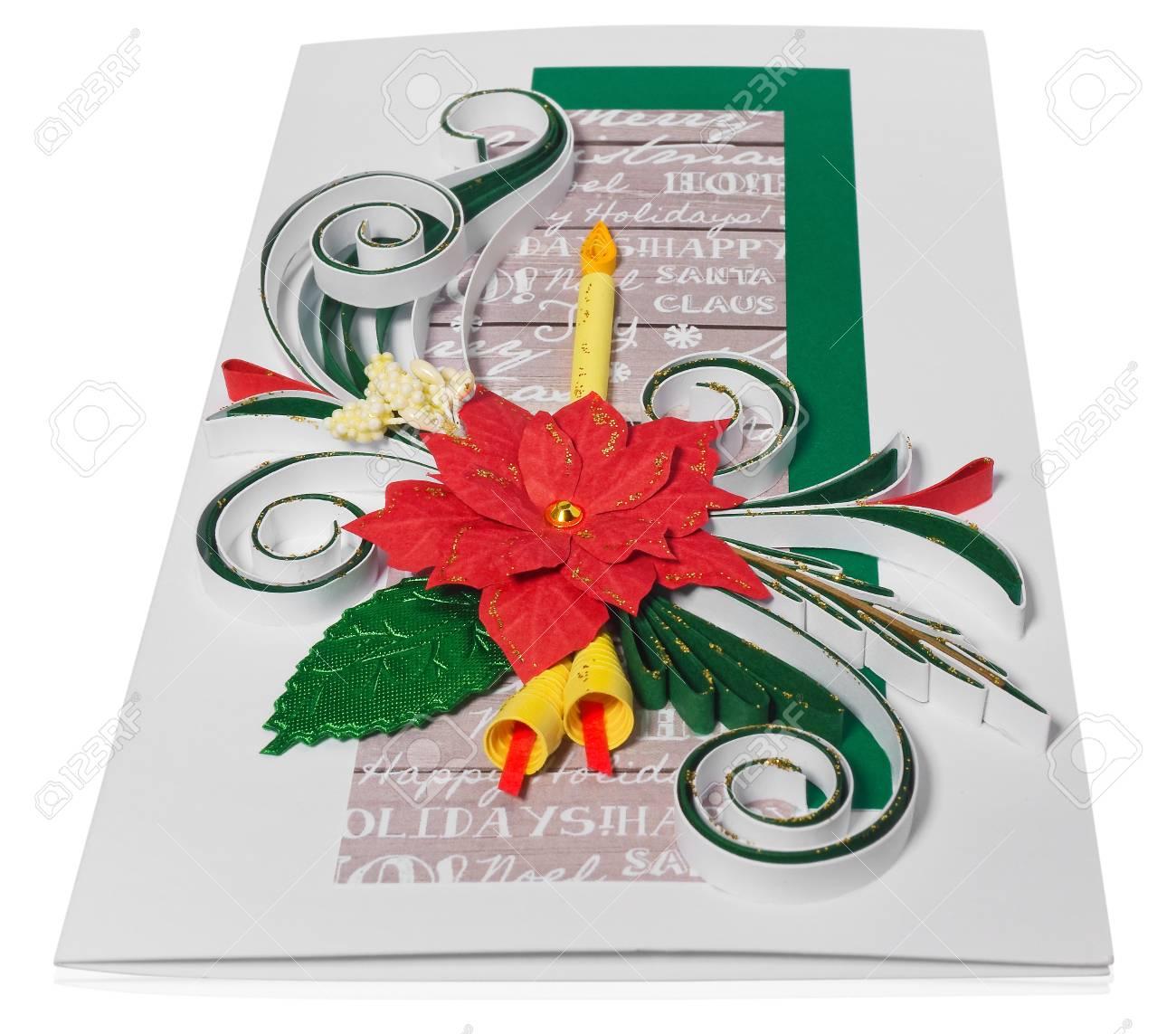 Christmas Greeting Cards Handmade.Handmade Christmas Card Postcard With Merry Christmas Greetings