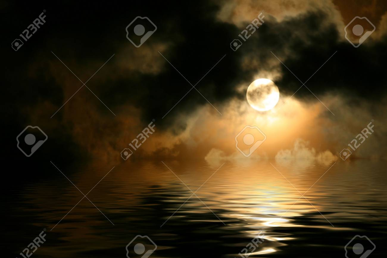 Full moon cloudscape Stock Photo - 5537993
