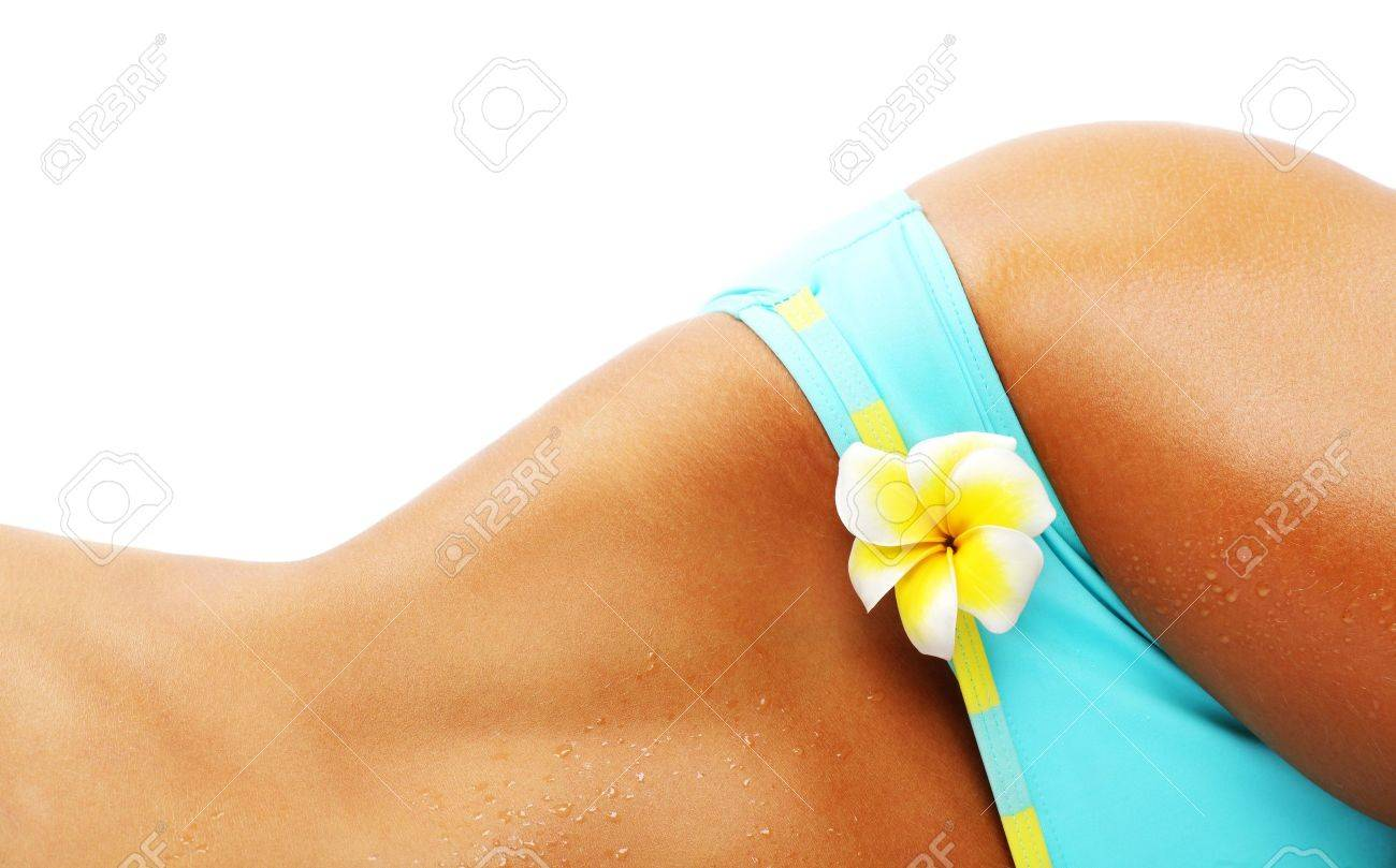 Perfect sexy body isolated conceptual image of vacation, dieting & healthy lifestyle Stock Photo - 7507105
