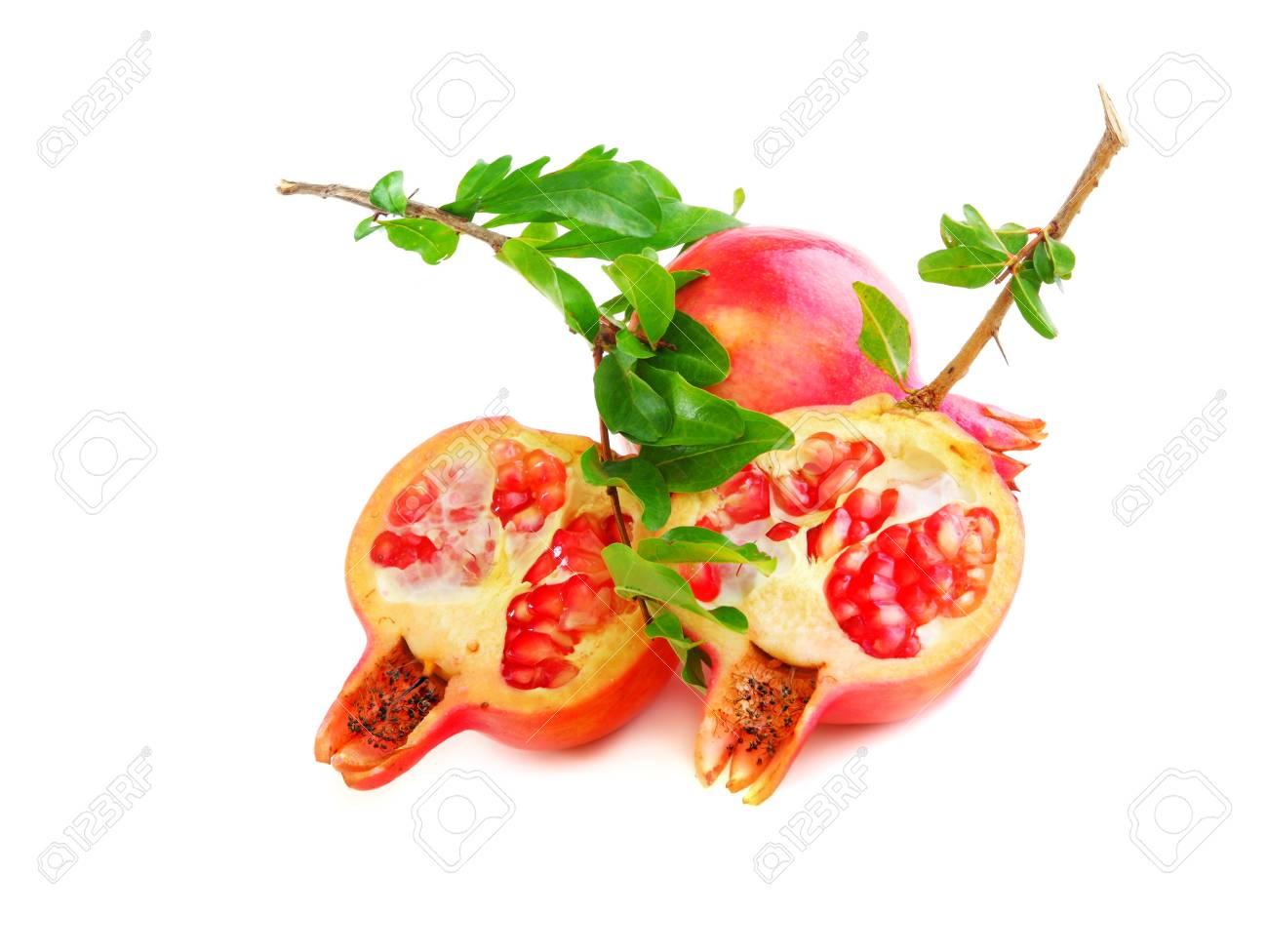 Red pomegranates isolated on white background Stock Photo - 7753329