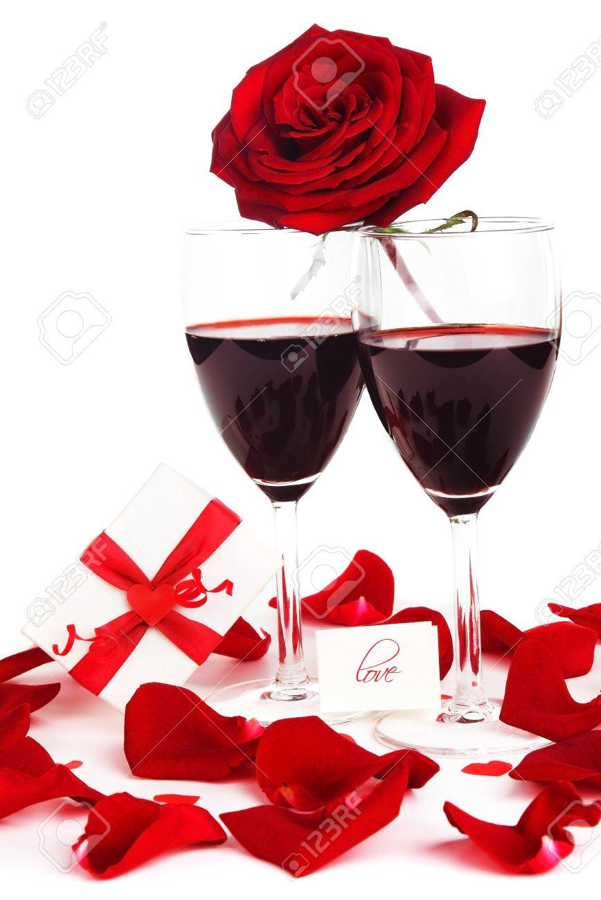 Romantic holiday drink, celebration of Valentines day, love concept Stock Photo - 8638543