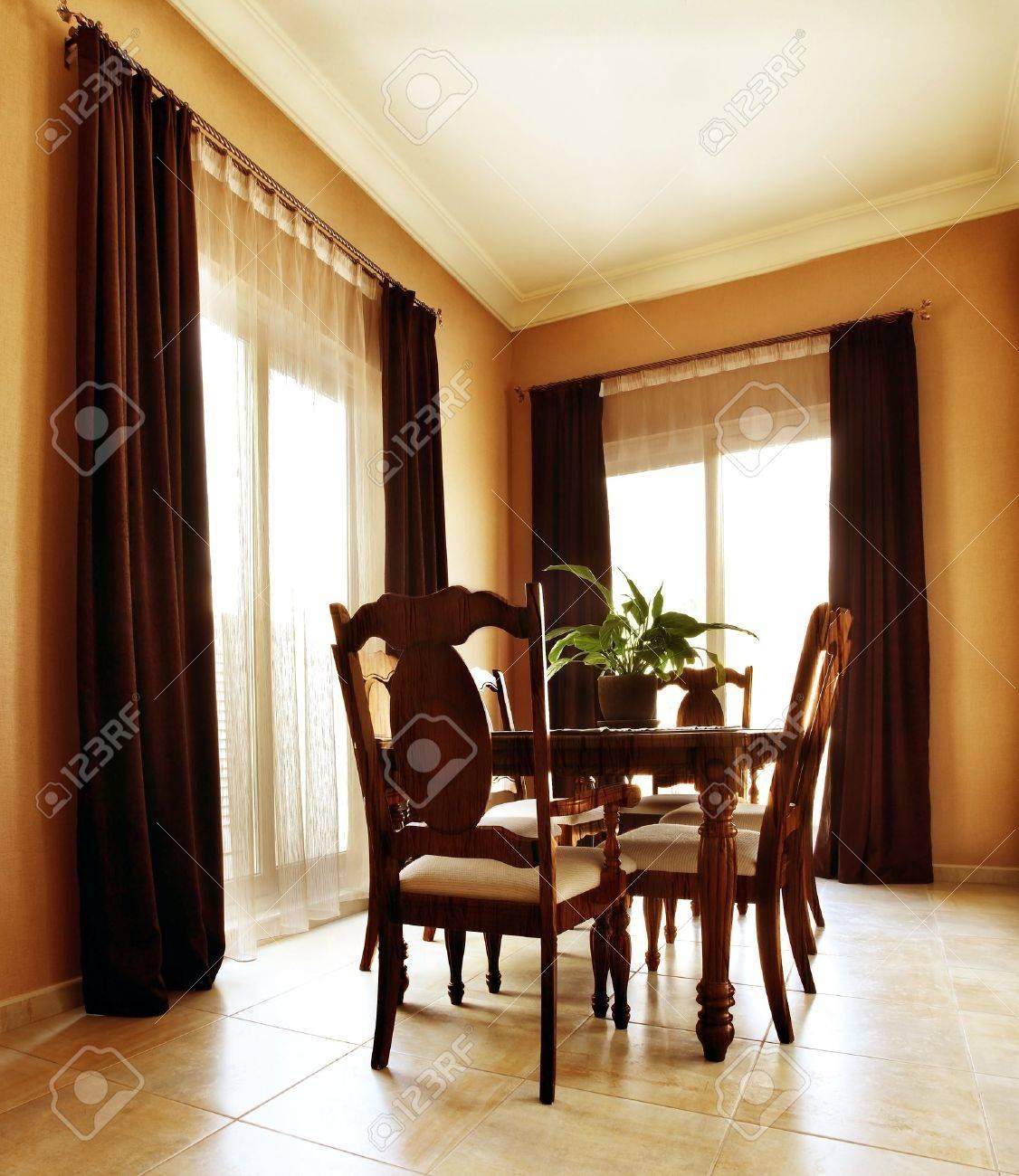 Luxury apartment with stylish modern interior design, dining room Stock Photo - 8638562