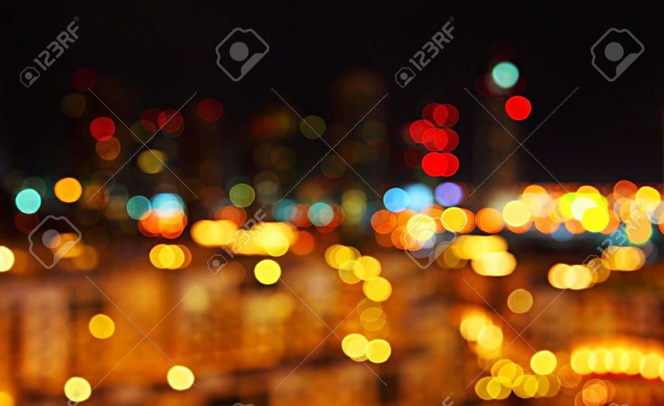 Abstract Bokeh Night City Lights Background Stock Photo   9824550