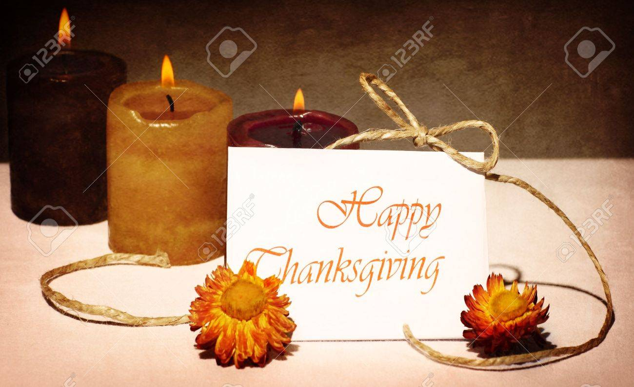 Thanksgiving Holiday Greeting Card Still Life Decoration With