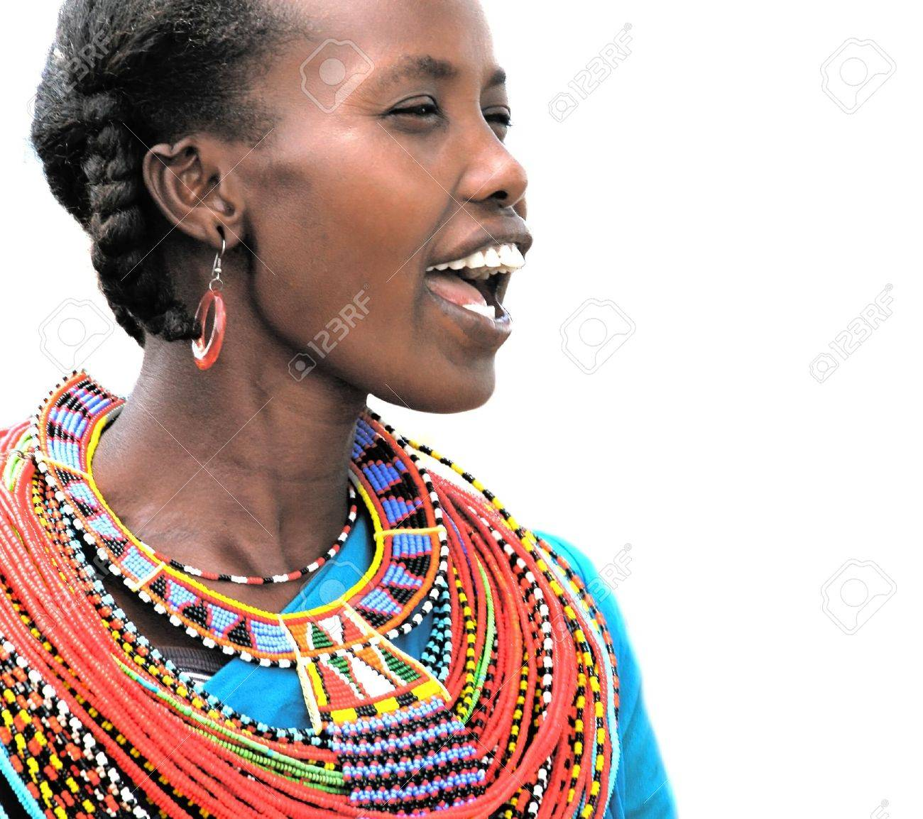 Portrait of an African woman that dressed traditionally Stock Photo - 11306304
