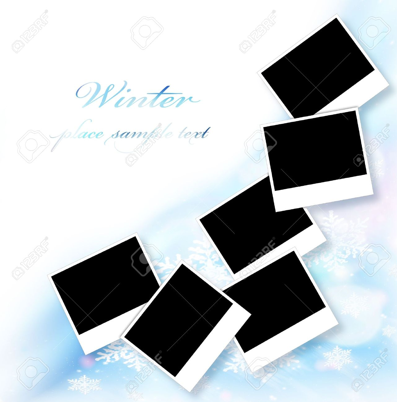 Blank Picture Frames Abstract Snowflake Decorative Border