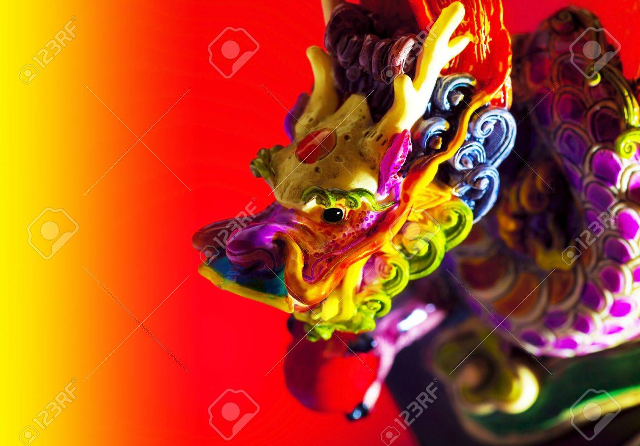 colorful dragon border traditional asian decoration and ornamental art chinese zodiac astrology sign