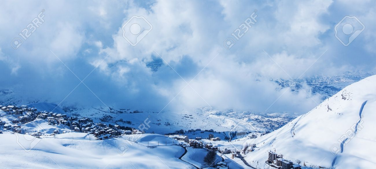 Picture Of Little Village In Snowy Mountains Beautiful Nature Landscape House Covered With Snow