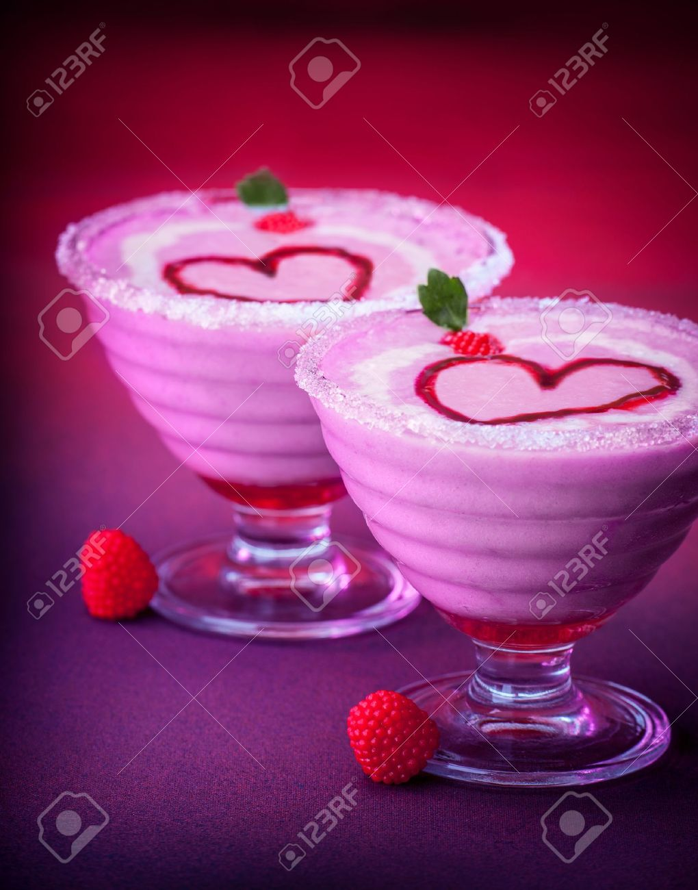 Picture Of Delicious Dessert For Valentine Day Romantic Dinner