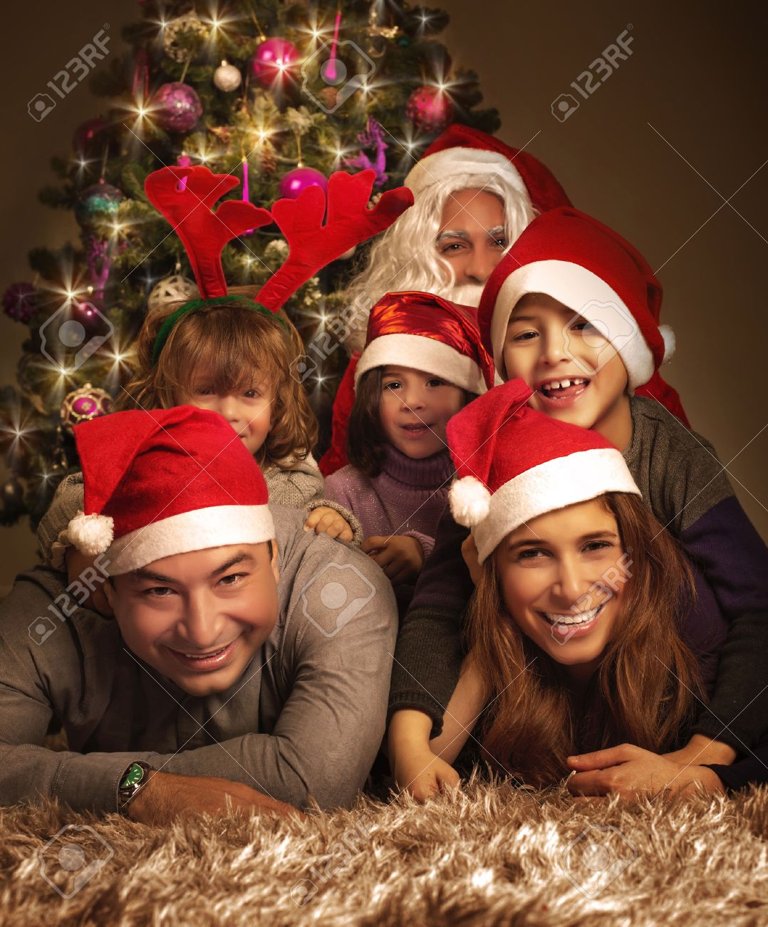 Family Christmas Photos Family Christmas Party Images Stock Pictures Royalty Free