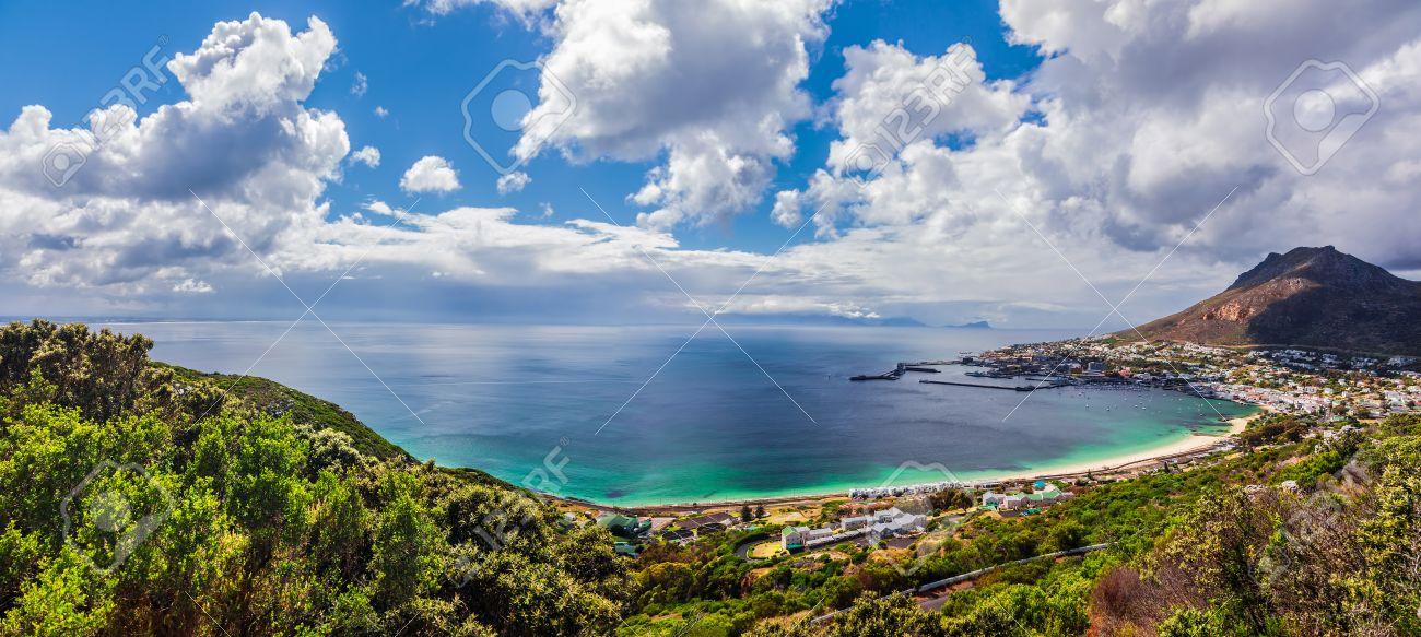 Immagini Stock Vista Panoramica Di Città Del Capo Maestosa Scena