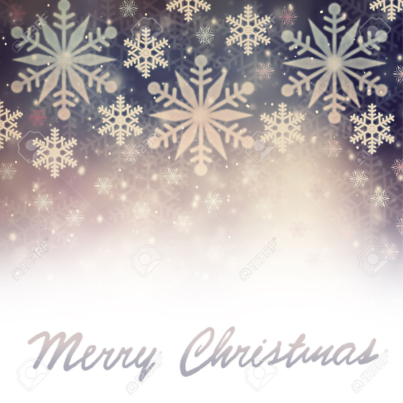 Merry Christmas Greeting Card, Beautiful Vintage Snowflakes Border ...